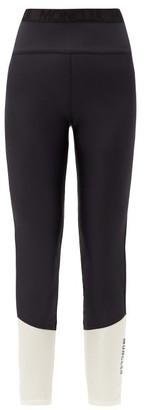 Moncler Logo-print Two-tone Leggings - Black White