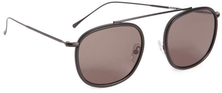 Illesteva Mykonos Ace Matte Black Sunglasses