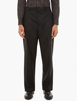 Lanvin Charcoal Wide-leg Trousers