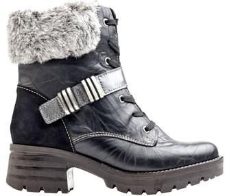 Dromedaris Leather Stacked Heel Boots - Kameryn