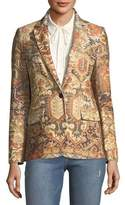Frame Persian Single-Breasted Printed Blazer
