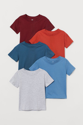 H&M 5-pack cotton T-shirts