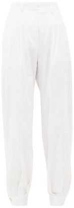 ÀCHEVAL PAMPA Al Boleo Cotton-blend Wide-leg Trousers - White