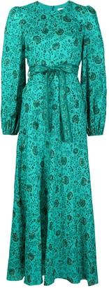Zimmermann All-Over Floral Print Tied Waist Dress