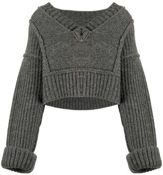 Jacquemus Chunky V-Neck Knitted Jumper