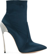 Casadei Techno Blade ankle boots - women - Leather/Silk Satin/Kid Leather - 37