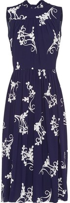 Prada Fan motif pleated dress