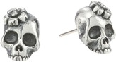 King Baby Studio Sakura Skull Stud Earrings Earring