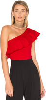 Susana Monaco One Shoulder Ruffle Top