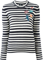 Paul Smith patches striped jumper - women - Cotton - M