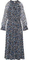 Paul & Joe Ezanzibar Printed Silk-chiffon Midi Dress - Navy