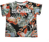 Little Eleven Paris Coachella Flamingo SS Tee