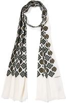Lanvin Printed Silk Scarf - Ecru