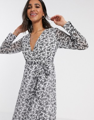 Y.A.S wrap dress in ditsy floral