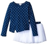 Splendid Littles Indigo Tutu Dress Star Print Girl's Pajama Sets