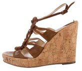 Christian Louboutin Suede Platform Wedge Sandals
