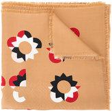 Fendi Flowerland shawl - women - Silk/Wool - One Size