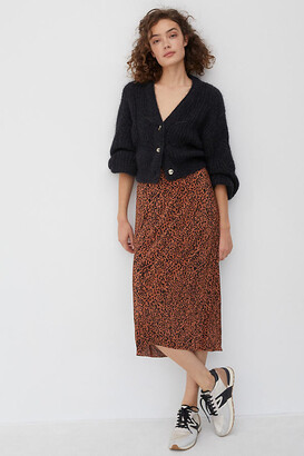 Maeve Mazie Pleated Midi Skirt By in Assorted Size XS