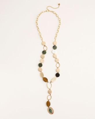 Chico's Green Multicolored Y-Necklace