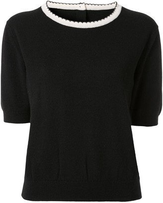 Chanel Pre Owned Short Sleeve Knit Top