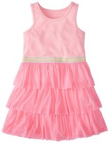 Of A Kind Girls Swish Sparkle Dress With Tulle Tiers
