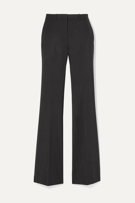 Theory Demitria 4 Stretch-wool Flared Pants - Black