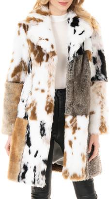 Fabulous Furs The Influencer Patchwork Faux-Fur Coat - Inclusive Sizing