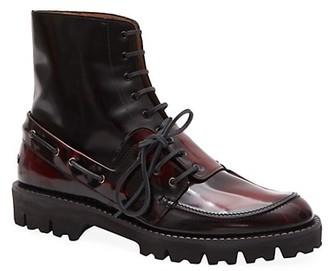 Maison Margiela Lace-Up Leather Boots