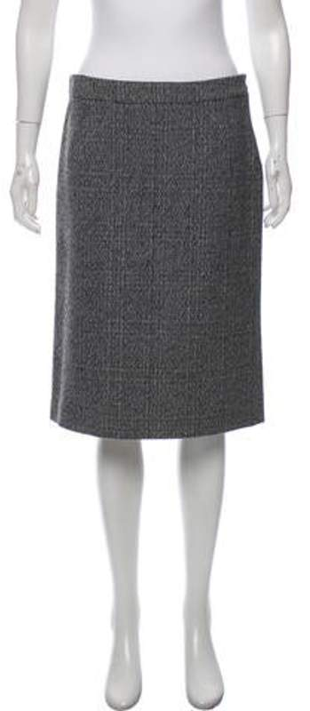 Miu Miu Wool Knee-Length Skirt Grey Wool Knee-Length Skirt
