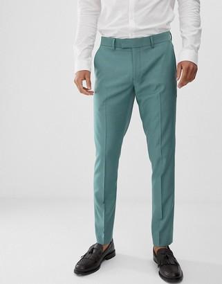 Farah Smart Henderson skinny fit pants in green