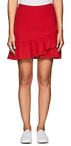 Barneys New York WOMEN'S RUFFLE CREPE SKIRT - RED SIZE XS