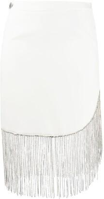 Philipp Plein Fringed Embellished Mini Skirt