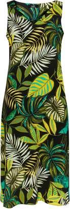 Wallis Green Tropical Print Midi Dress