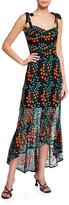 Dress the Population Wren Floral Embroidered Tie-Strap High-Low Dress
