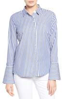 KUT from the Kloth Women's Luz Stripe Bell Cuff Shirt