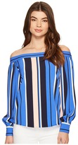 Romeo & Juliet Couture Off the Shoulder Multicolor Stripe Top