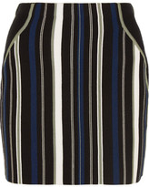 3.1 Phillip Lim Striped Stretch Cotton-blend Mini Skirt - Black