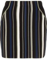 3.1 Phillip Lim Striped Stretch Cotton-blend Mini Skirt - large