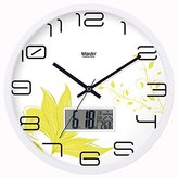 BABYQUEEN Silent European wall clock living room bedroom fashion creative modern decorative quartz clock