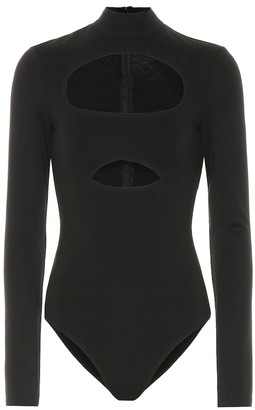 David Koma Cut-out cotton bodysuit