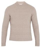 Boglioli Striped cable-knit wool-blend sweater