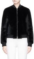 Theory Reversible lambskin shearling bomber jacket
