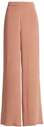Cushnie High-Waisted Wide Leg Silk Pants