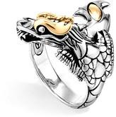 John Hardy Sterling Silver & 18K Gold Naga Dragon Ring