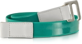 MM6 Maison Martin Margiela Green Fabric and Leather Belt