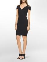 Calvin Klein Cold Shoulder V-Neck Dress