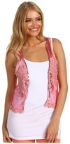 Betsey Johnson Lace Vest with Sequins (Mauve) - Apparel