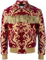 Saint Laurent fringed brocade jacket - men - Cotton/Viscose/Silk/Cupro - 44