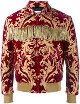 Saint Laurent fringed brocade jacket - men - Silk/Cotton/Lurex/Metallic Fibre - 44