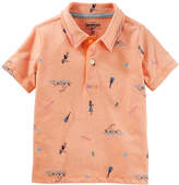 Osh Kosh Oshkosh Long Sleeve Knit Polo Shirt - Preschool Boys